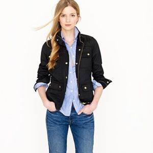 J Crew Downtown Field Jacket Moto Military